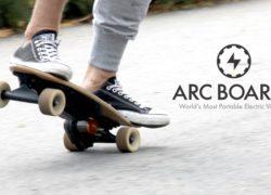 Arc Board: Smallest, lightest electric skateboard
