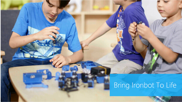 IronBot: A robot your kids can build