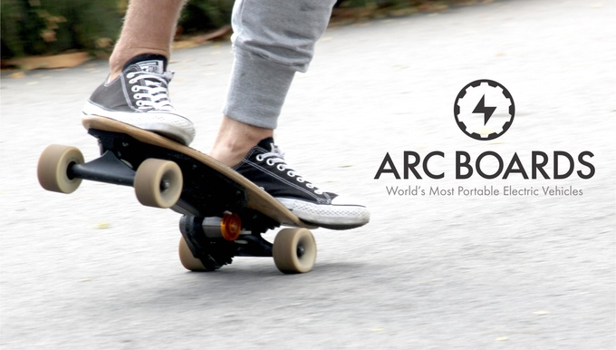 Arc Board: Smallest, lightest electric skateboard