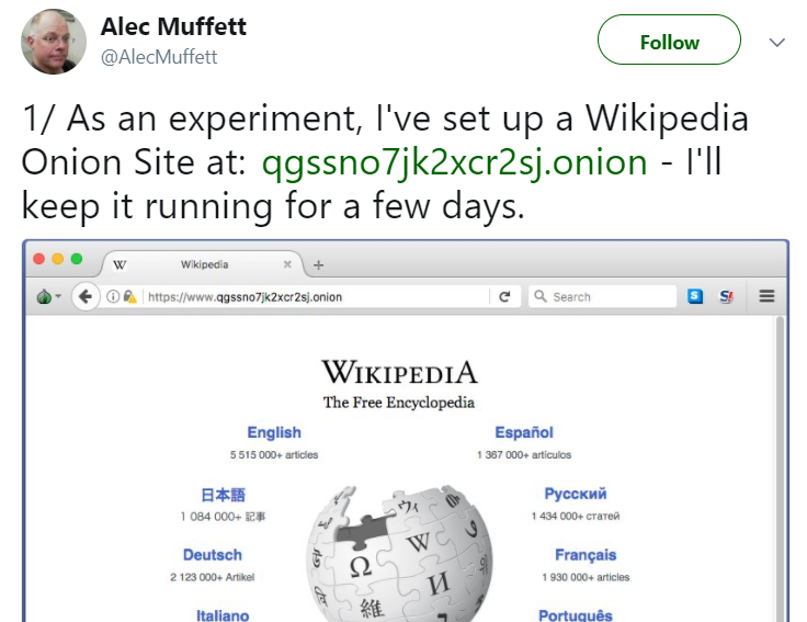 Dark web version of Wikipedia is now live in Internet