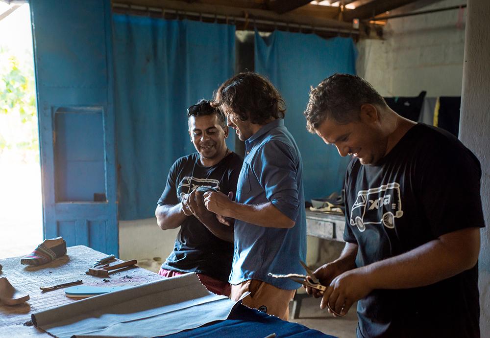 Xinca founders: Alejandro Malgor and two of his friends, Ezequiel Gatti and Nazareno El Hom