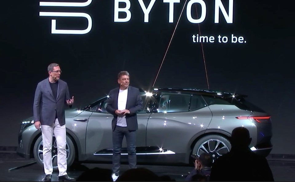 Byton shows concept electric auto with a 49-inch touchscreen