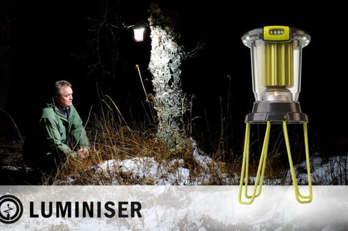 Luminiser Lantern is an innovative LED light that is powered by one tea candle without the need for batteries, solar panels or cords