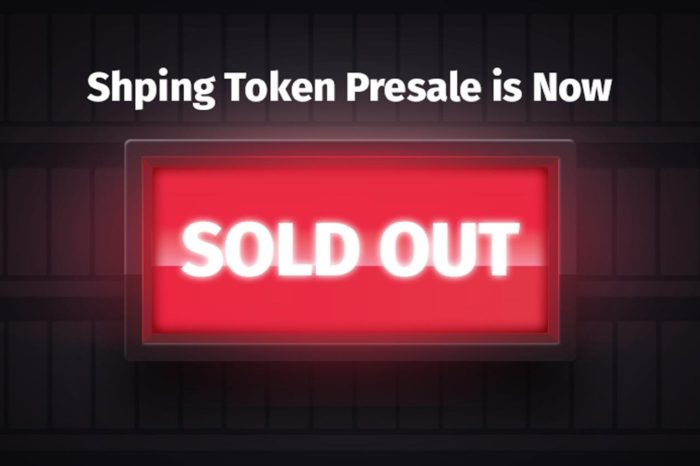 Shping token presale sold out with 3 days remaining