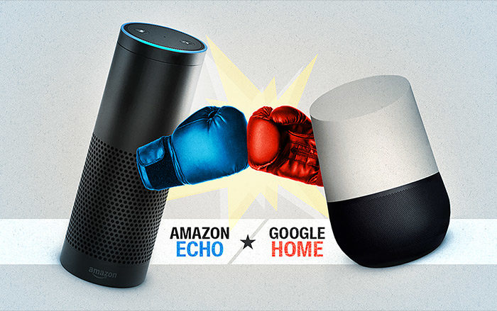 Amazon Echo vs. Google Home: Smart Speaker Face-off! (Infographic)