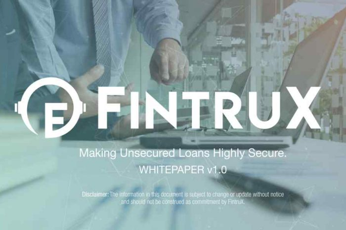 FintruX raises $25 million in their token sale to build P2P lending platform for small businesses and startups