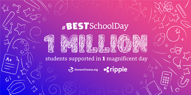 Blockchain-based payments startup Ripple donated $29 million (the largest donation of cryptocurrency) to support public schools all over US