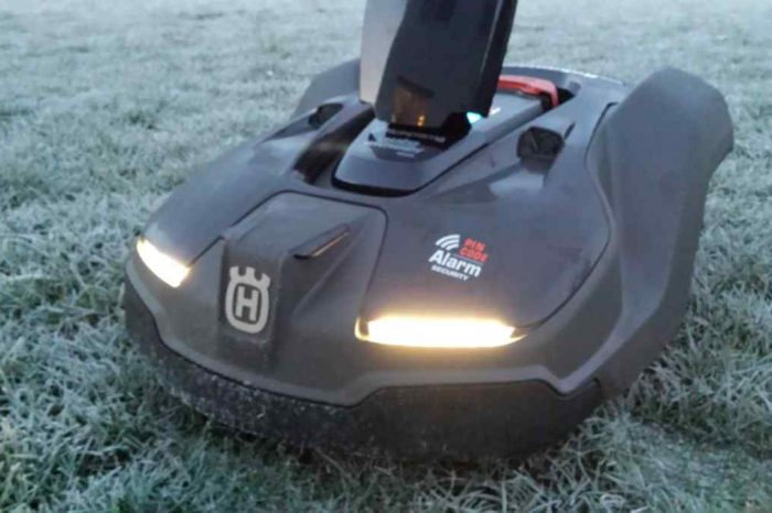 "Meet Automower 450X, a 'lawn and order"" robotic mower that mows up to 1.25 acres in one charge"