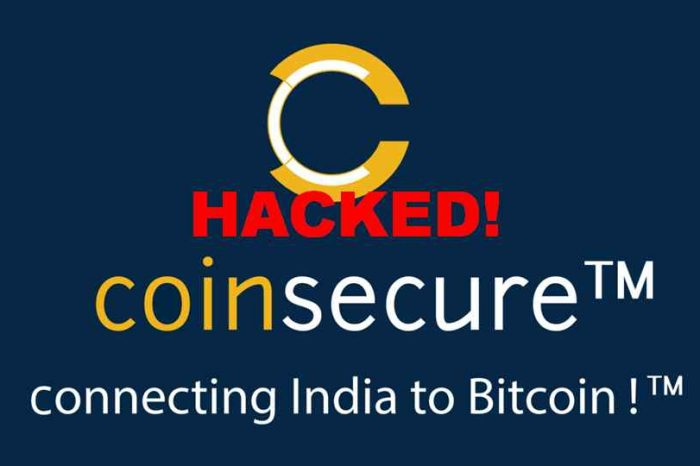 Indian Bitcoin Exchange Coinsecure claims ‎$3.5 worth of bitcoins stolen in insider hack