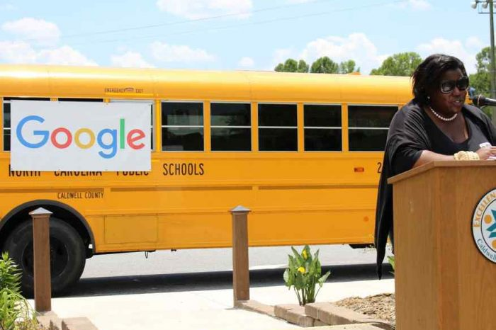 Google equips school buses with free WiFi and helps students get online in rural areas across 12 states