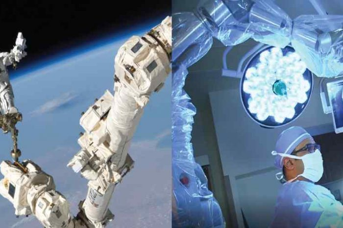 Neurosurgeons successfully used robotic technology derived from International Space Station to perform brain tumor surgery