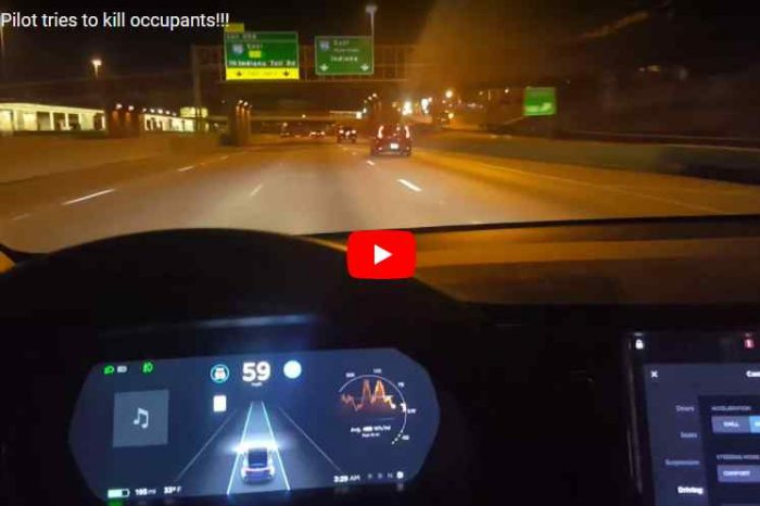 Caught On Video: How a Tesla Auto-Pilot almost killed its occupants