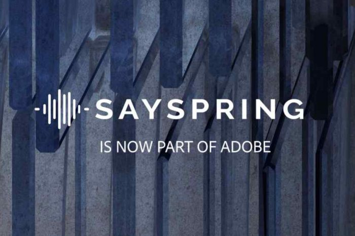 Adobe bets on voice with acquisition ofvoice platform startup Sayspring