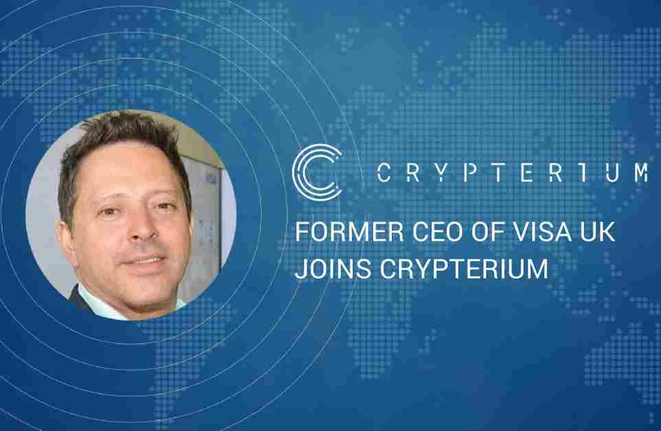 Cryptocurrency startup Crypterium announces former CEO of Visa UK as its New Chief