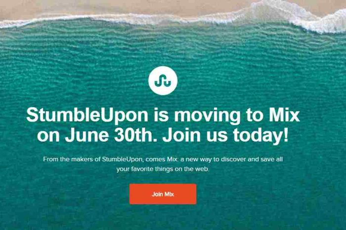 StumbleUpon is shutting down after 16 years; moving to Mix.com