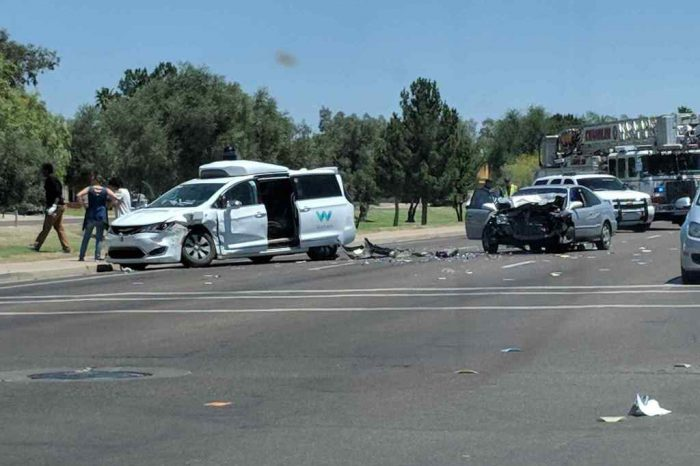 Waymo autonomous car involved in crash in Arizona