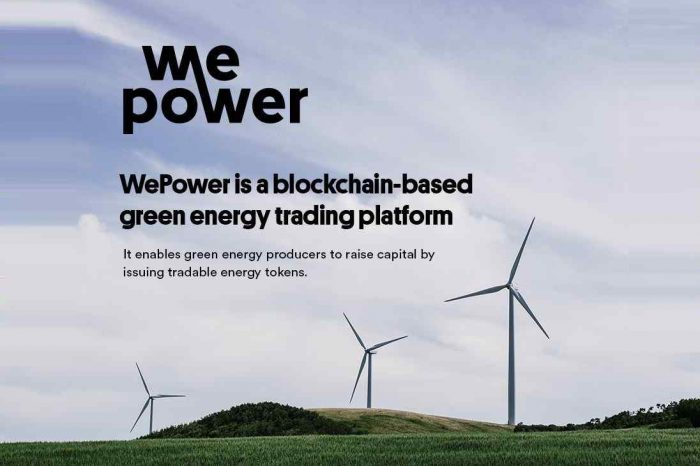 Energy blockchain startup WePower announces the preview of its blockchain-based green energy trading platform