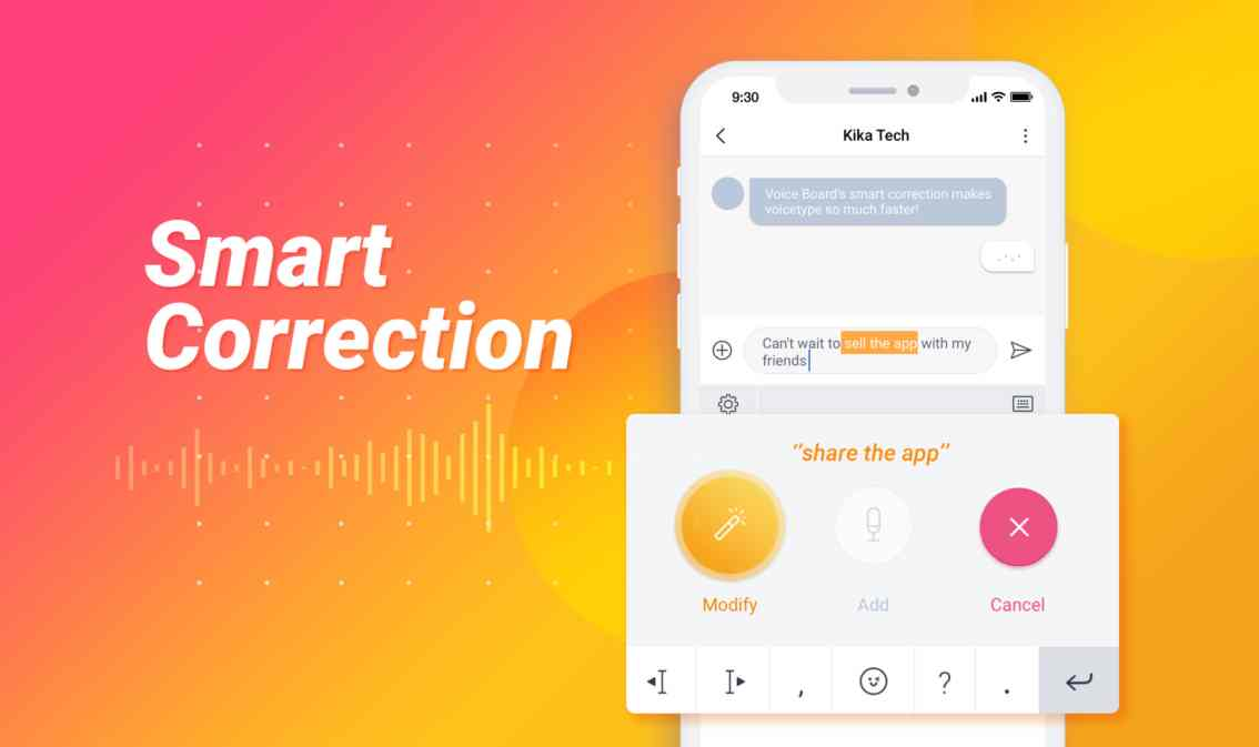 AI startup Kika launches Voice Board, a voice typing, full
