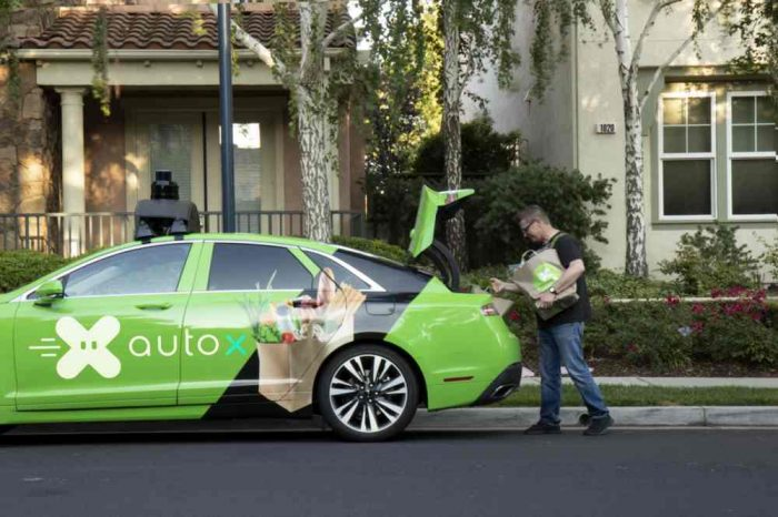 Self-driving car startup AutoX launches the first-ever autonomous grocery delivery in Bay Area