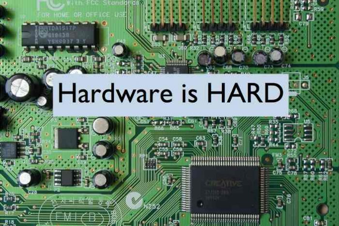 Hardware is Hard: The Role of Hardware in The Modern World