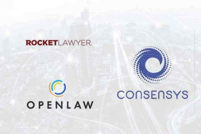 Rocket Lawyer partners with Ethereum blockchain startup ConsenSys to accelerate the launch of secure, blockchain-enabled legal contracts