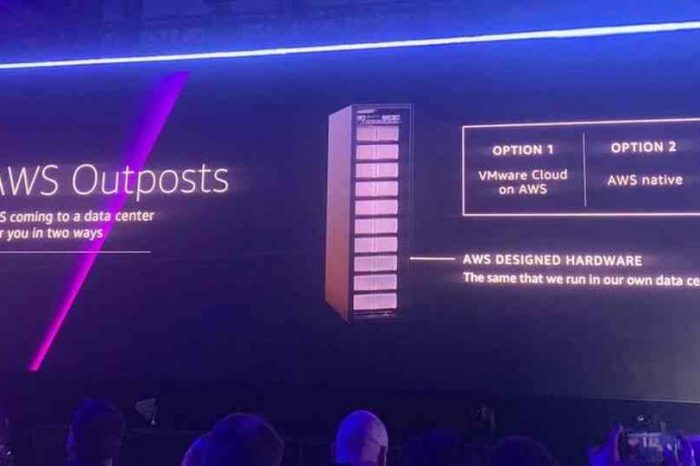 Amazon launches AWS Outposts, an on-premise data center, that should get legacy hardware vendors like Cisco, HPE and Dell worried