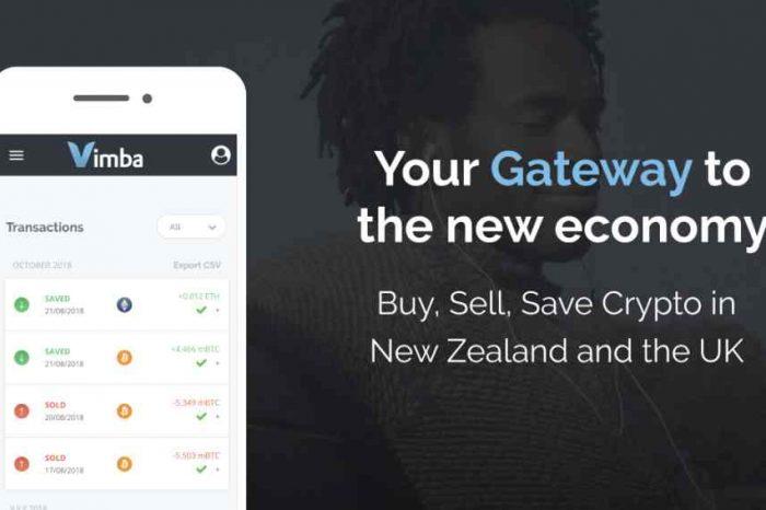New Zealand's largest crypto savings platform startup Vimba expands to UK