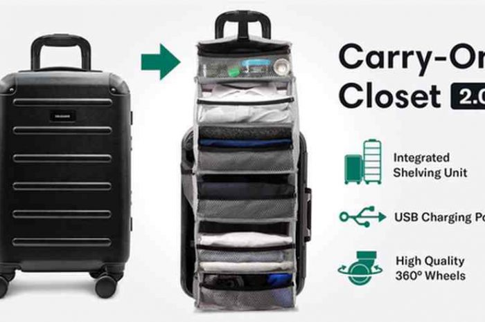 Meet Solgaard Suitcase, A Carry-On Closet 2.0 with Shelf and USB