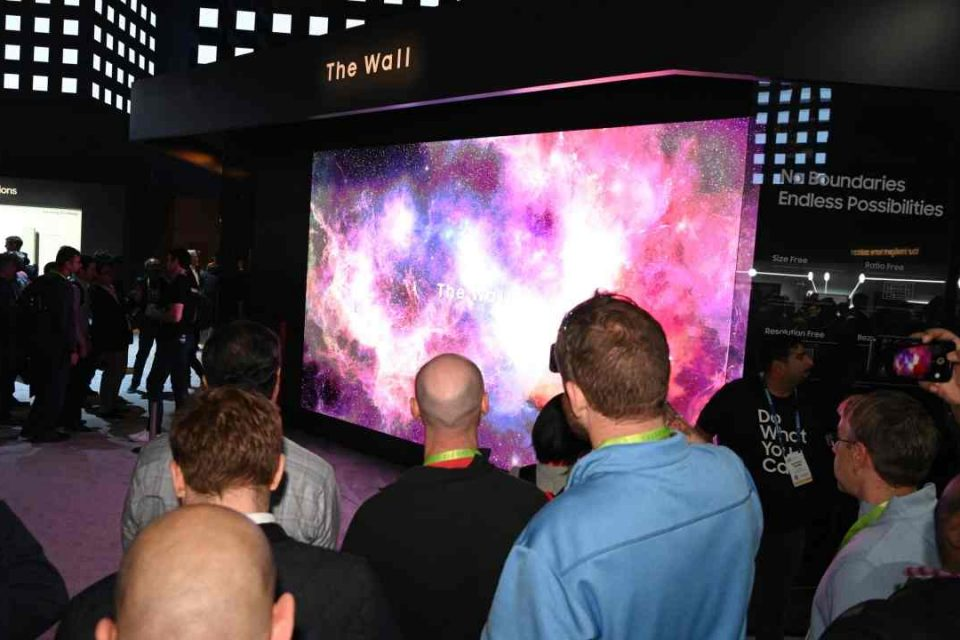 Samsung unveils a massive 219-inch TV called 'The Wall'