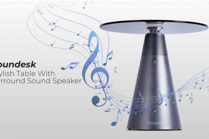 Meet Soundesk, A Modern TableWith Surround Sound Speaker