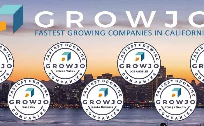 Fastest Growing Companies/Startups in California - Silicon Valley, San Francisco, Los Angeles, San Diego, etc. Awarded by Growjo