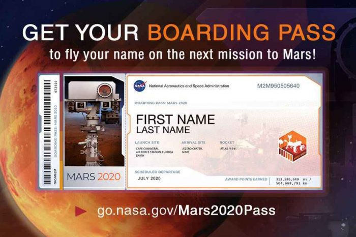 NASA is now accepting applications from members of the public to submit their names to fly aboard next Mars Rover