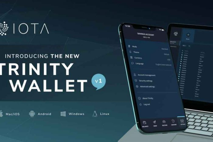 IOTA Foundation launches Trinity Wallet, a secure software for IOTA tokens