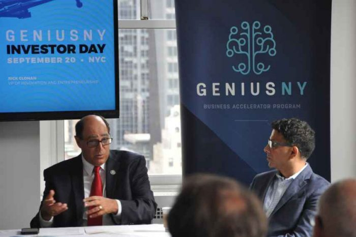 New York accelerator GENIUS NY Announces Latest Semi-Finalists and 5 Finalist Startups to Compete for $3M Investments