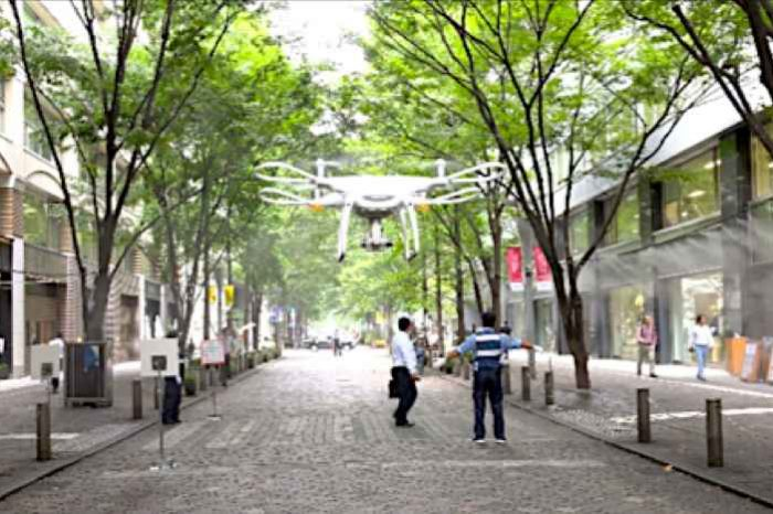 Terra Drone demos safe use of UAVs with Mitsubishi Estate for urban area logistics and security in Tokyo