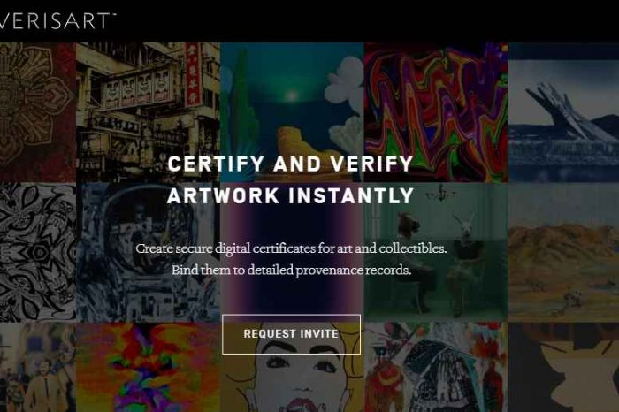 Verisart, the first company to provide blockchain-based certification for artworks and collectibles market, raises $2.5 million in seed funding
