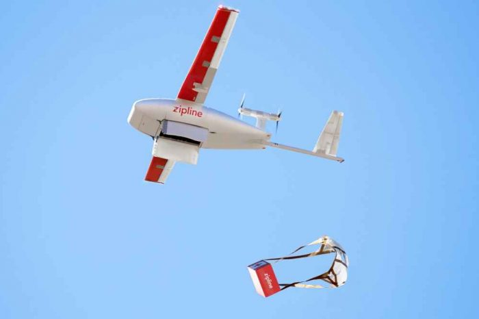 Drone startup Zipline demonstrates its medical supply drones with US military