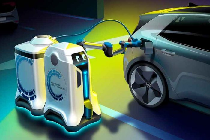 Volkswagen launches new mobile charging robots for electric cars