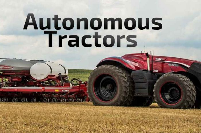 This self-driving, autonomous driverless tractor concept, could revolutionize agriculture