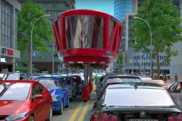 This Fire Truck Of The Future Can Drive Over Traffic In Emergency Situations
