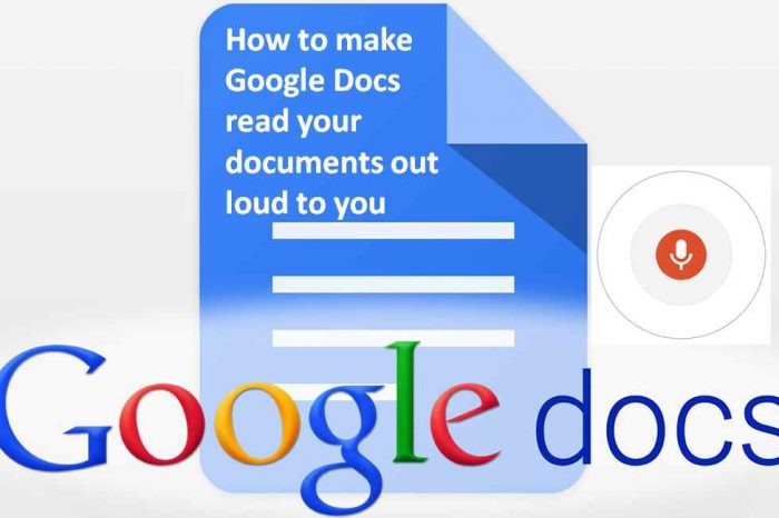 How to make Google Docs read your documents out loud to you, using a Google Chrome Vox extension
