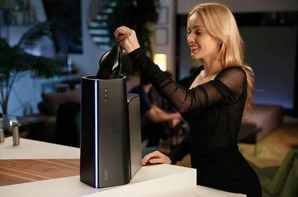 This tech startup just unveils a 'Reverse microwave' Juno beverage chiller that can chill bottle of wine, beer, or coffee in under 1 minute