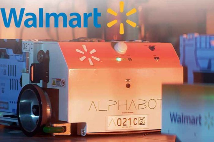 Walmart unveils Alphabot, an autonomous robot that could revolutionize grocery shopping and retrieve good customers order online