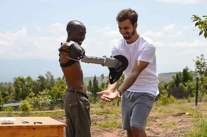 Meet the 24-year-old who is changing lives by giving away 3D-printed prosthetic limbs to people in developing world
