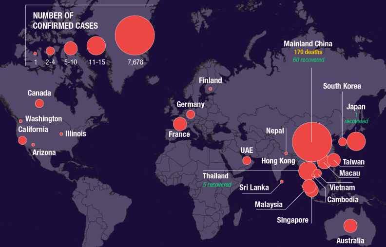 coronavirus australia map