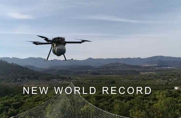 Quaternium drone HYBRiX sets a new World Record of Endurance with a flight of 8 hours and 10 minutes