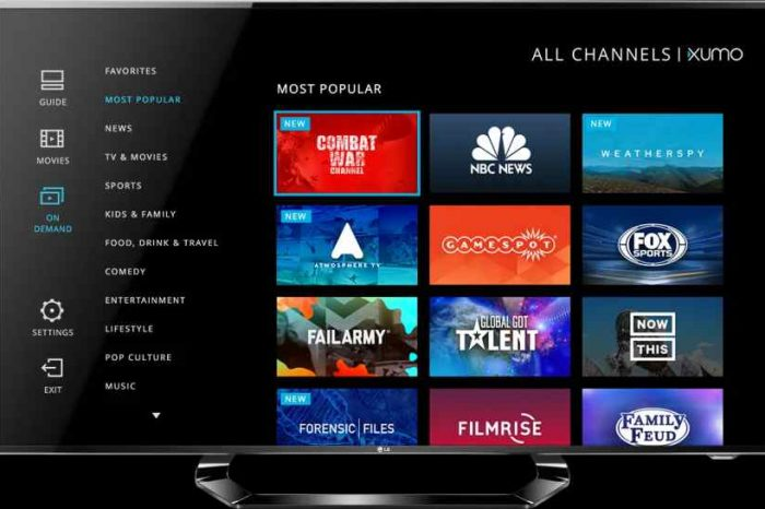 Comcast buys ad supported free streaming service startup Xumo for over $100 million