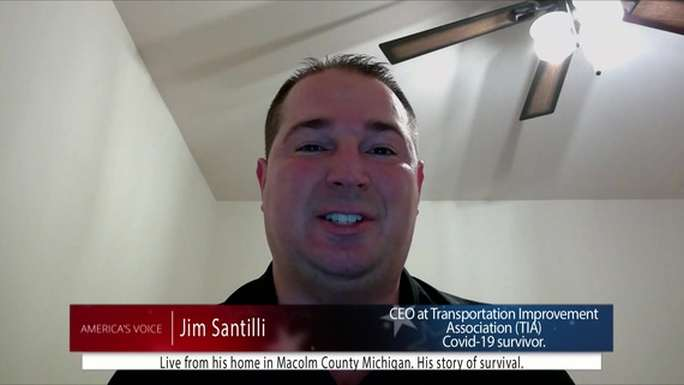 Jim Santilli, a coronavirus patient, says hydroxychloroquine and azithromycin saved his life