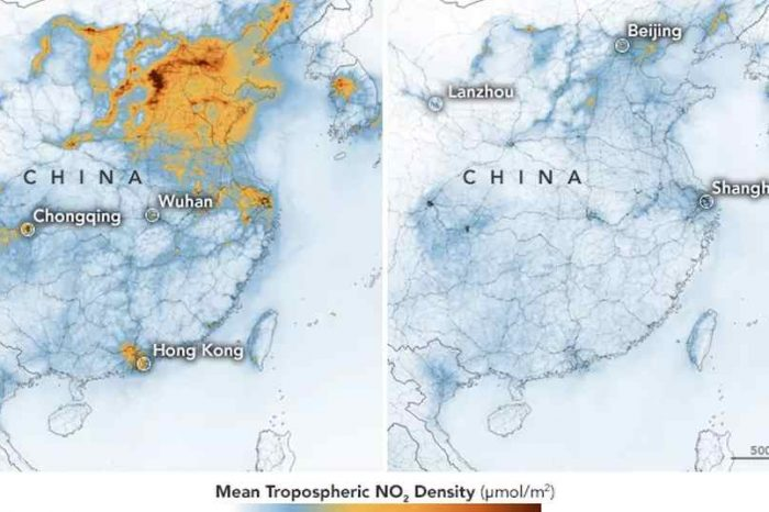 NASA satellite images show sharp decrease in China's air pollution following economic slowdown caused by coronovirus