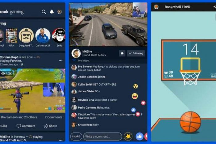 Facebook launches a dedicated gaming appfor people to create and watch live gameplay